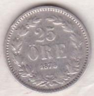 Sweden 25 Öre 1875/4. Oscar II. Argent. KM# 738 - Suède
