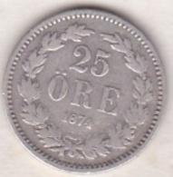 Sweden 25 Öre 1874. Oscar II. Argent. KM# 738 - Suède