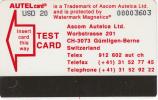 ST.PETERSBURG(Autelca) - Lenfincom/Autel Test Card USD 20, Used - Russia