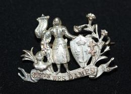 "WW1 - Belle Broche Souvenir De Poilu ""Chemin Des Dames - Jeanne D'Arc"" Trench Art Brooch - WWI - 1914-18"
