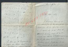 LETTRE DE 1914 ECRITE DE PARIS VOIRE ECRITURE ?: - Manuscripts