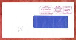 Brief, Absenderfreistempel, Promoculture, Luxembourg 2008 (46450) - Poststempel - Freistempel