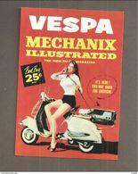 VESPA Mechanix Illustrated - RIPRODUZIONE CARTOLINA CARD PUBBLICITARIA - Pubblicitari