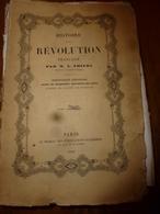 1839  HISTOIRE De La RÉVOLUTION FRANÇAISE Tome 1  , Par M. A. Thiers - Livres, BD, Revues