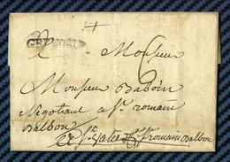 Isère - Grenoble Pour St Romain D'ALBON Par St Vallier (Drome). LAC De 1778 - 1701-1800: Precursors XVIII