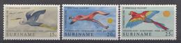Suriname 1971 Mi.nr: 593-595 Flugdienst Amsterdam-Paramaribo  NEUF Sans CHARNIERE / MNH / POSTFRIS - Suriname