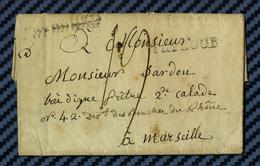 Monastère De VALSAINTE - Lettre De FRIBOURG (Suisse) Pour MARSEILLE -1805 // Suite Révolution - Suisse