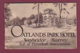 080218 ROYAUME UNI ANGLETERRE SURREY - Dépliant Touristique OATLANDS PARK HOTEL WEYBRIDGE - Surrey