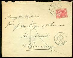 Nederland 1909 Brief Van Baak Naar Den Haag Met Ontvangststempel - Covers & Documents