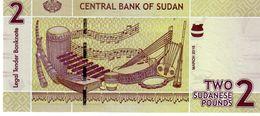 Sudan P.71b 2 Pounds 2015  Unc - Soudan