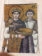 Cartolina-Ravenna-S. Vitale-L'imperatore Giustiniano (VI Sec.) - Ravenna