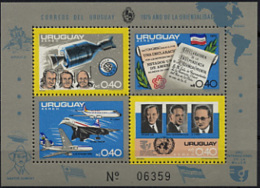 Uruguay, 1975, Space, US Bicentennial, UPU, United Nations, Concorde, Airplane, MNH, Michel Block 27 - Uruguay