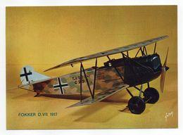 Les Collections Du Musée De L'air--Avion--Fokker  D. VII   1917 ---modèle Réduit 1/10- - Avions