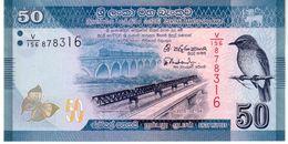 Sri Lanka P.124c 50 Rupees 2015    Unc - Sri Lanka