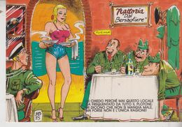 Humor Militari Pin Ups Pinup's Pin Up Trattoria Dal Bersagliere No Vg - Humour
