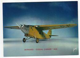 """Les Collections Du Musée De L'air--Avion--BERNARD """"Oiseau Canari """"    1929 ---modèle Réduit 1/10- - Avions"""