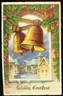 """Nederland 1938 Ansichtkaart """"Gelukkig Kerstfeest"""" Met NVPH 313 - Unclassified"""