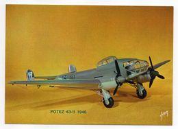 Les Collections Du Musée De L'air--Avion-- POTEZ  63-11   -  1940 ---modèle Réduit 1/10- - Avions