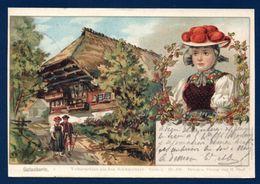 Gutach. Volkstrachtenaus Dem Schwarzwald.  Gutacherin. Jeune Fille Avec Chapeau à Pompons Rouges. 1903 - Gutach (Schwarzwaldbahn)