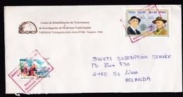Peru: Cover To Netherlands, 1987, 3 Stamps, Scouting, Baden Powell, Scouts, Rare! (Columbus Stamp Damaged) - Peru
