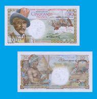 Saint Pierre And Miquelon 50  Francs 1950  -- Copy - Copy- Replica - REPRODUCTIONS - Billets