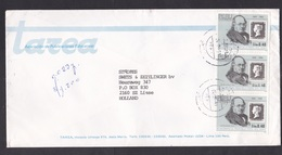 Peru: Cover To Netherlands, 1991, 3 Stamps, Rowland Hill, Penny Black, History, Rare Real Use (minor Damage) - Peru