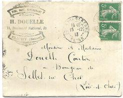 LF A32  Lettre De 1913 Timbres N°137x2 - Marcophilie (Lettres)