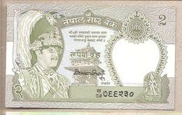 Nepal - Banconota Non Circolata FdS Da 2 Rupie P-29c.2 - 1990 - Nepal