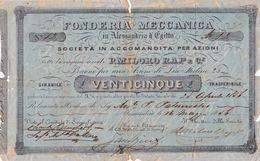 """ALESSANDRIA D'EGITTO_ 1831 / SOCIETA' IN ACC.TA PER AZIONI """" P. MILORO RAP E C."""" - Industrie"""