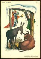 """Nederland 1957 Ansichtkaart Voor Het Kind """"Gelukkig Kerstfeest"""" Met NVPH 702 (2) - Unclassified"""