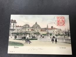 2 - GENEVE Le Kursaal - 1904 Timbrée - GE Genf