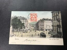 29 - GENEVE Rue Du Mont Blanc- 1904 Timbrée - GE Geneva