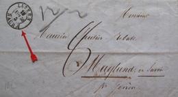 Lot FD/696 - LETTRE Du 13 NOV 1859 - CàD : LUZERN (SUISSE) TAXE MANUSCRITE 8 > GENEVE > MAGLAND Haute Savoie (FRANCE) - Marcophilie