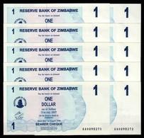 Zimbabwe 10 Pcs @ 1 Dollar / 2006 / Pick 37 / UNC / AA Prefix / Bearer Cheque / Pre-100 Trillion Era - Zimbabwe