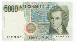 "Italy 5000 Lire "" Bellini "" 1988 BV. UNC. - 5000 Lire"