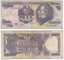 Uruguay 1.000 Pesos 1992 Pick 64A.b Ref 1495 - Uruguay