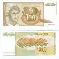 Yugoslavia 100 Dinara 1990 Pick 105 Ref 1496 - Yugoslavia