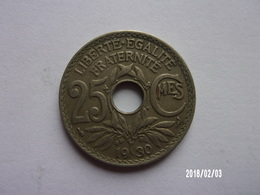 25 Centimes - Lindauer - 1930- KM 867a - F. 25 Centimes