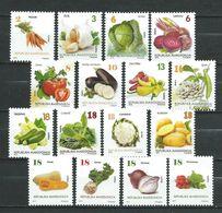 Macedonia 2013/2014/2015/2016/2017.Vegetables.Flora Full Serial. **MNH - Macedonia