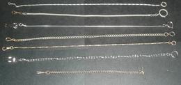 Lot 7 Anciennes Chaines De Montres à Gousset, Chaine Montre - Jewels & Clocks