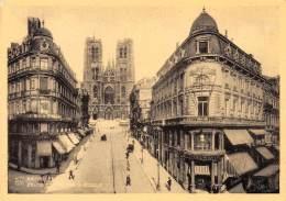 CPM - BRUXELLES - Eglise Et Rue Sainte-Gudule - Lanen, Boulevards