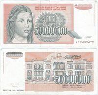 Yugoslavia 50.000.000 Dinara 1993 Pick 123 Ref 1502 - Yugoslavia