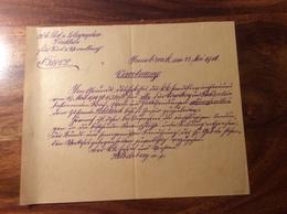 1916 POST VERORDNUNG: POST ZENSUR ÖSTERREICH & FÜRSTENTUM LICHTENSTEIN  (Innsbruck  Brief Vorarlberg Feldkirch - 1850-1918 Empire