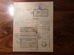 1921 FORMULAR: Postamt LANGENEGG Die Bestellung Vom Postzeug-Amt Innsbruck  (Brief Vorarlberg Österreich - 1918-1945 1. Republik
