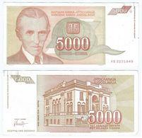 Yugoslavia 5.000 Dinara 1993 Pick 128 Ref 1506 - Yugoslavia