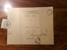 1916 Dienstbrief Innsbruck: über Die AUSLANDSPOST ZENSUR-STELLEN (Brief Vorarlberg Österreich Post Tirol 1914-18 1 WK - 1850-1918 Empire