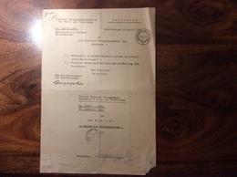 1936 Dienst-Brief Innsbruck: NATIONALSOZIALISTISCHE DECKADRESSEN  (Vorarlberg Österreich Post Tirol 1939-45 2.WK NSDAP - 1918-1945 1. Republik