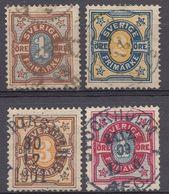 SVEZIA - SVERIGE - 1892 - Serie Completa Obliterata Yvert 51/54. - Used Stamps