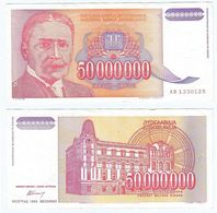 Yugoslavia 50.000.000 Dinara 1993 Pick 133 Ref 1509 - Yugoslavia