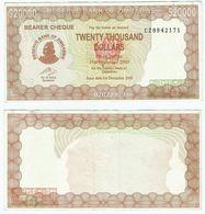 Zimbabwe 20.000 Dollars 2005 Pick 23 Ref 1512 - Zimbabwe